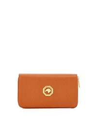 Zip Around Leather Travel Wallet Tan Stefano Ricci