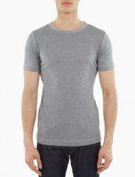 S.N.S. Herning Grey Striped Knitted Cotton T Shirt
