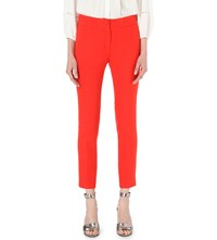 Claudie Pierlot Pablito Cropped Crepe Trousers Coquelicot