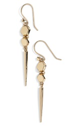 Melinda Maria 'Jane' Drop Earrings Gold
