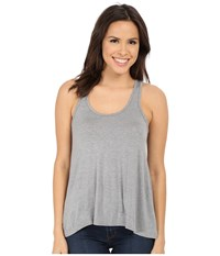 Splendid Scoop Neck Drapey Tank Top Medium Marled Heather Women's Sleeveless Gray