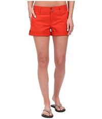 Mountain Khakis Sadie Chino Shorts Tomato Women's Shorts Red