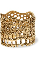 Aurelie Bidermann Lace Gold Plated Ring