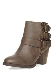 Dorothy Perkins Madison Heeled Ankle Boots Grey