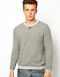 United Colors Of Benetton Jumper With Herringbone Pattern