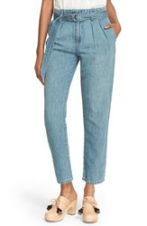 Joie Women's 'Lucilia' Belted Ankle Jeans Sea Wash