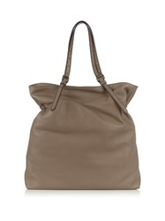Tomas Maier Leather Tote Bag Beige