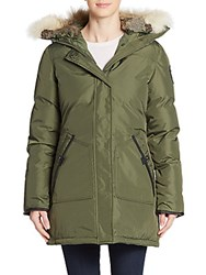 Pajar Canada Catherine Fur Trimmed Parka Military