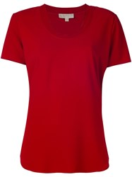 Michael Michael Kors Round Neck T Shirt Red