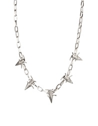 Asos Necklace With Spike Barbed Wire Silver