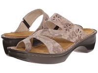 Naot Footwear Montreal Beige Snake Leather Women's Slide Shoes Brown