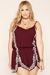 Forever 21 Plus Size Embroidered Romper