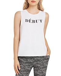 Bcbgeneration Graphic Muscle Tank Optic White