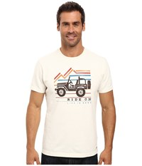 Life Is Good Ride On Mountain Crusher Tee Simply Ivory Men's T Shirt White
