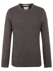 Racing Green Men's Harbour Crew Neck Knit Charcoal
