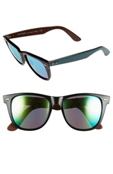 Ray Ban 'Wayfarer' 54Mm Sunglasses Black Grey Green Mirror