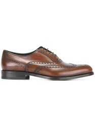 Salvatore Ferragamo 'Gerard' Lace Up Shoes Brown