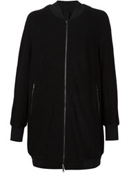 Forme D'expression Ribbed Cuff Zip Jacket Black