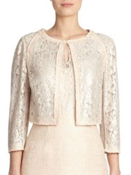 Kay Unger Tweed And Lace Jacket Bisque