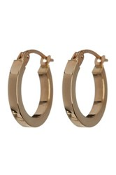 Candela 14K Yellow Gold 15Mm Square Tube Hoop Earrings Metallic