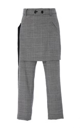Marissa Webb Kori Plaid Apron Pants