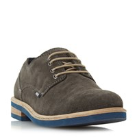 Howick Boomerang Contrast Sole Gibson Shoes Light Grey
