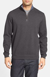 Men's Big And Tall Tommy Bahama 'Flip Side' Reversible Twill V Neck Sweatshirt Cinder Heather