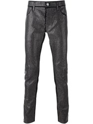 Just Cavalli Front Studded Trousers Black