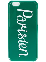 Maison Kitsune 'Parisien' Iphone 6 Case Green