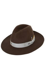 Borsalino By Nick Fouquet Beaver Fur Felt Brimmed Hat With Match