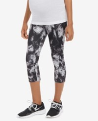 Motherhood Maternity Printed Leggings Black Grey Tie Dye