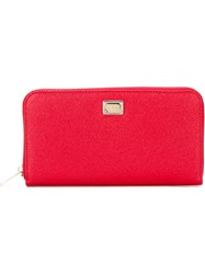 Dolce And Gabbana 'Dauphine' Zip Around Wallet Red