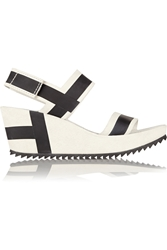 Pedro Garcia Flori Suede Wedge Sandals