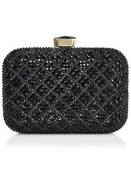 Jacques Vert Stone Embellished Box Bag Black