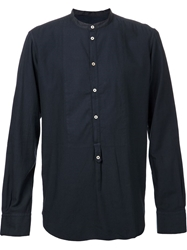 Massimo Alba 'Kos Washed Flannel Popover' Shirt Blue