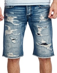 Cult Of Individuality Rebel Jean Shorts Blue