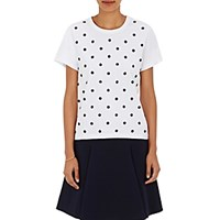 Marc Jacobs Women's Polka Dot Cotton Beaded T Shirt No Color