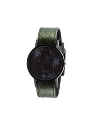 South Lane Stockholm 'Avant Diffuse Ostrich' Watch Green