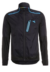 Diadora Windbreaker Dark Smoke Black