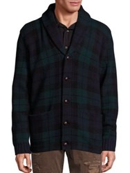 Polo Ralph Lauren Shawl Collar Plaid Cardigan