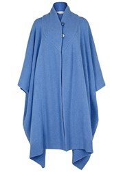 Stella Mccartney Light Blue Cashmere Blend Cape