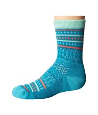 Smartwool Diamond Flush Crew Capri Blue Heather Women's Crew Cut Socks Shoes