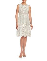 Tommy Hilfiger Lace Fit And Flare Dress Ivory