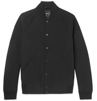 Theory Furg Stretch Shell Bomber Jacket Black