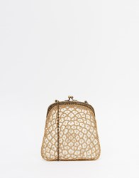 Moyna Vintage Style Clutch Bag With Delicate Beading White