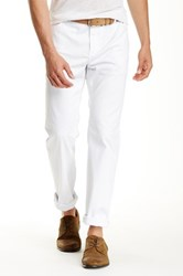 John Varvatos Pick Stitch Slim Fit Jean White