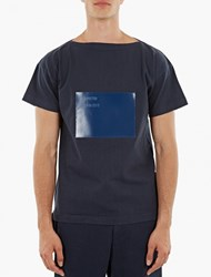 Jil Sander Blue Vinyl Panel T Shirt
