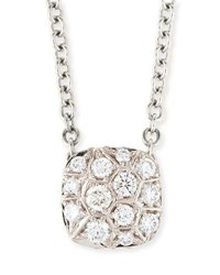 Pomellato Grande Nudo 18K White Gold Diamond Pendant Necklace
