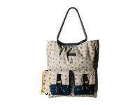 Kavu Scout Tote Campground Tote Handbags Beige
