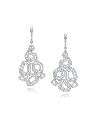 Montmartre Diamond Cluster Drop Earrings White Ivanka Trump